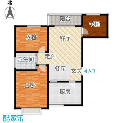 帝景国际97.94㎡高层F户型3室2厅1卫LL