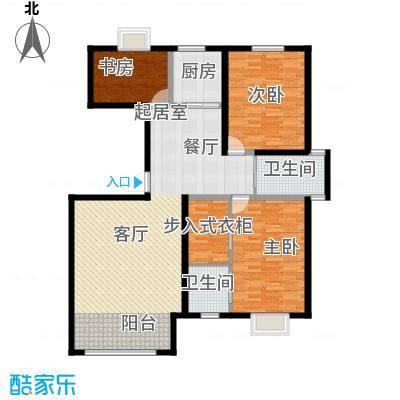 恩源智湾130.16㎡C3户型3室2厅2卫