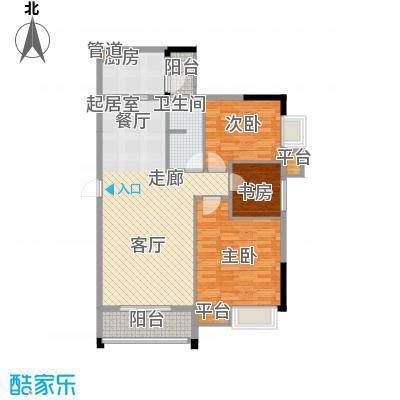 兴湘时代家园102.14㎡户型单张1栋02三房两厅一卫户型3室2厅1卫