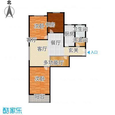 左岸春天户型3室1厅1卫1厨