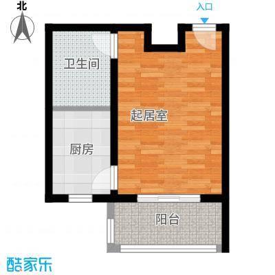 藏龙镇40.32㎡D2一居室户型1室1厅1卫