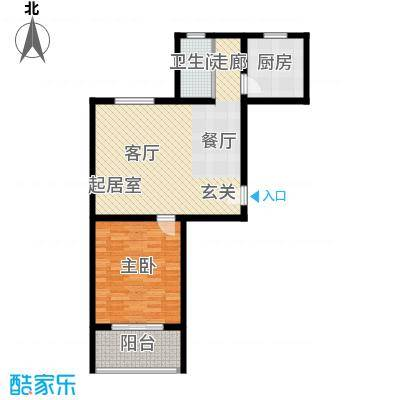 藏龙镇73.44㎡D1户型2室2厅1卫