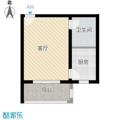 藏龙镇40.32㎡一居C2户型1室1厅1卫
