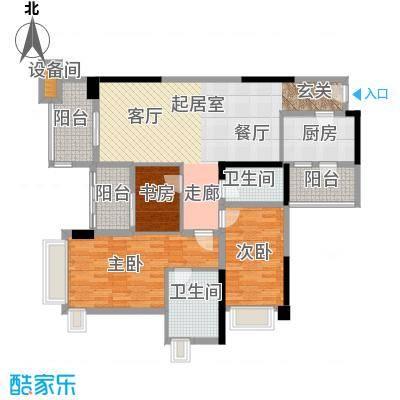 雅居乐凯茵又一城113.00㎡22栋06单位户型3室2厅2卫