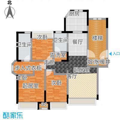 金地锦城115.00㎡多层27号楼 三室两厅两卫户型3室2厅2卫