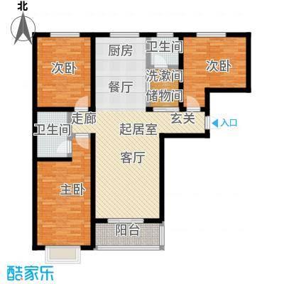 聚富未来城户型3室2卫
