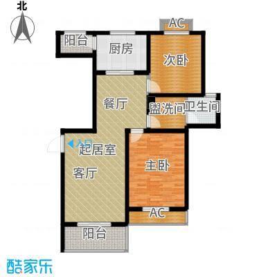 宝地名邸101.13㎡B户型2室2厅1卫