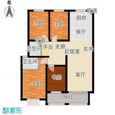 逸景和公馆135.09㎡D1 四室两厅两卫户型4室2厅2卫