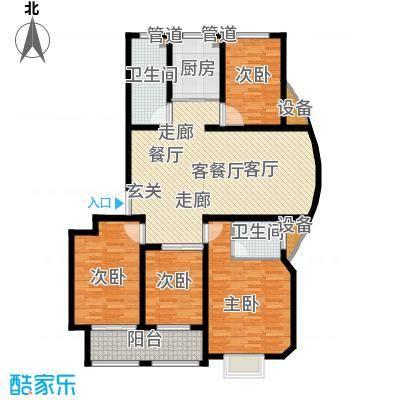 逸景和公馆128.26㎡C2 四室两厅两卫户型4室2厅2卫