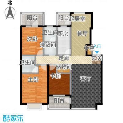河海丽湾132.37㎡户型图户型3室2厅2卫