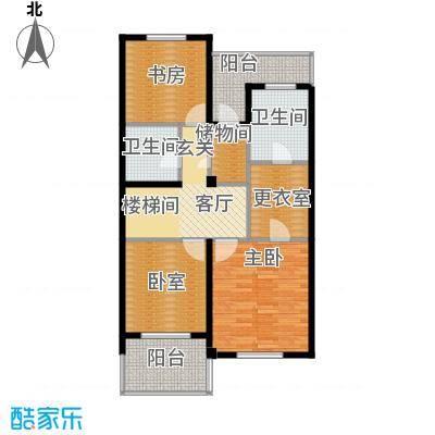 华茂中心84.00㎡洋房二层Q1户型3室1厅2卫