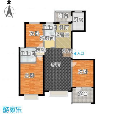 河海丽湾141.68㎡户型图户型3室2厅2卫