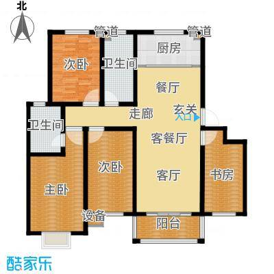 逸景和公馆139.60㎡B1 四室两厅两卫户型4室2厅2卫