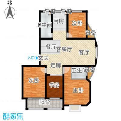 逸景和公馆133.13㎡D2 四室两厅两卫户型4室2厅2卫
