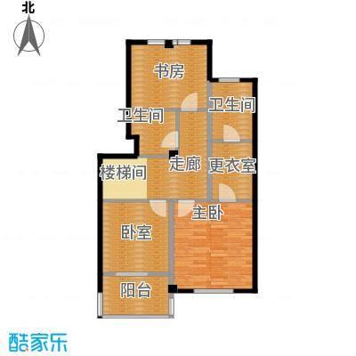 华茂中心81.00㎡洋房二层Q2户型3室2卫