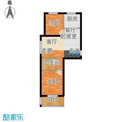 光华里89.00㎡A户型两室两厅一卫户型2室2厅1卫