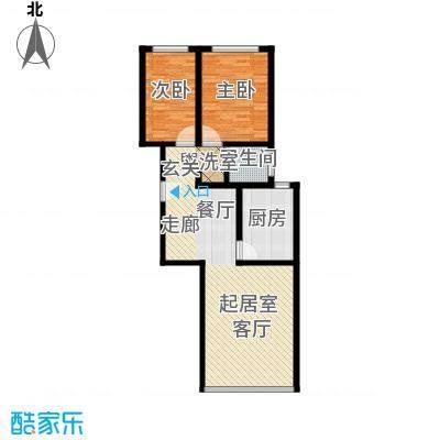融亿海盈城市花园92.96㎡两室两厅一卫 92.96平方米户型2室2厅1卫