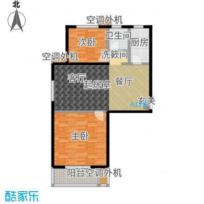 海韵馨园户型2室1卫1厨