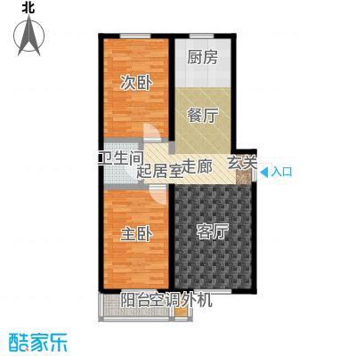 海韵馨园户型2室1卫