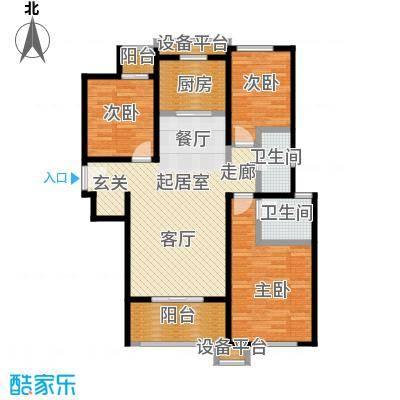 天朗蔚蓝东庭户型3室2卫1厨