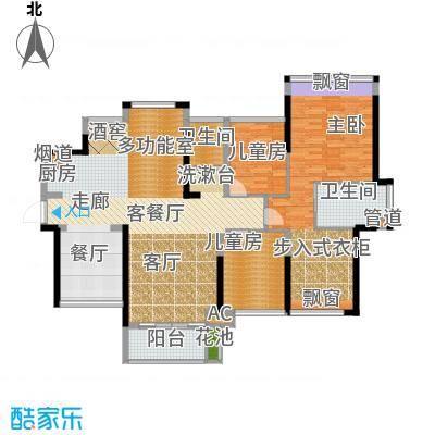 建曙高尔夫1号121.00㎡A1-2(3+1户型) 3房2厅2卫1入户花园户型