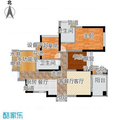 建曙高尔夫1号95.00㎡A1-1(2+1户型) 3房2厅2卫1入户花园户型