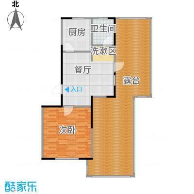 华都・襄湾壹号一室一厅一卫户型1室1厅1卫