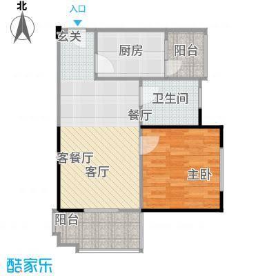 东山滨海湾花园户型1室1厅1卫1厨