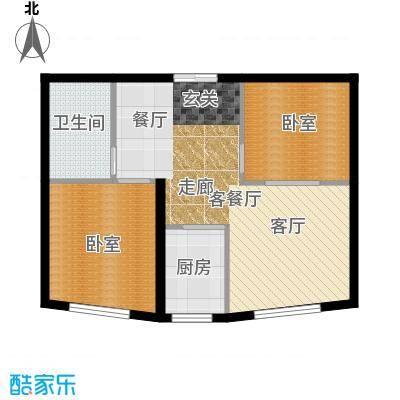 世贸皇冠花园78.10㎡世贸皇冠花园 户型图户型2室1厅1卫