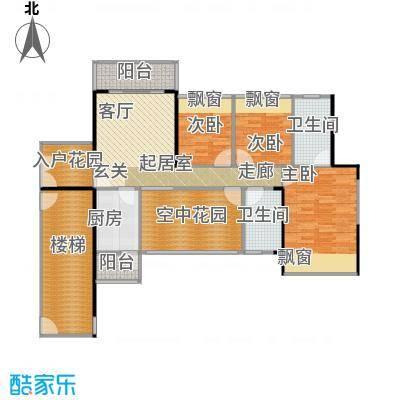 凯南莱弗城107.23㎡E2户型图4室2厅2卫户型4室2厅2卫