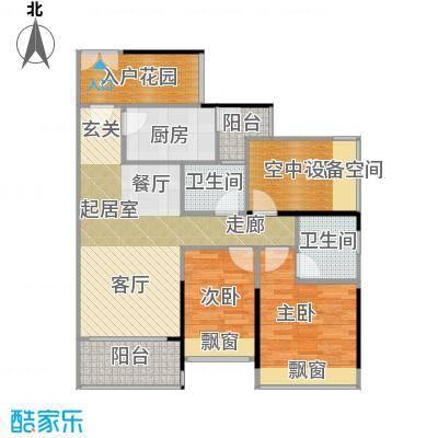 凯南莱弗城B4户型图3室2厅2卫-88.61户型3室2厅2卫