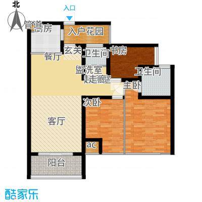 万盛凤凰城(2+1)房2厅2卫,约89㎡户型3室2厅2卫