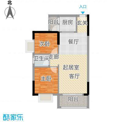 香海湾75.86㎡3栋05户型2室2厅1卫户型2室2厅1卫