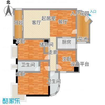 骏景花园141.02㎡1栋01户型3室2厅2卫1厨户型3室2厅2卫