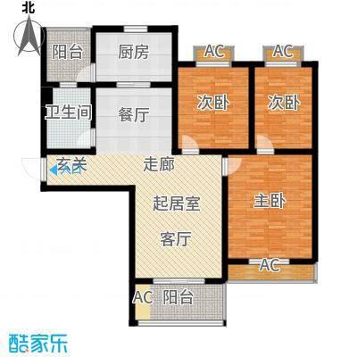 宝地名邸115.76㎡F户型3室2厅1卫