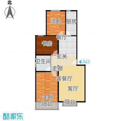 左岸春天112.50㎡三室两厅一卫112.5平米A户型3室2厅1卫