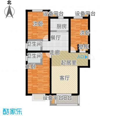 龙华苑龙华苑A户型2室2厅1卫1厨户型3室2厅2卫