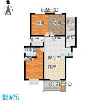 龙华苑F户型3室2厅2卫户型3室2厅2卫