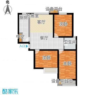 龙华苑D户型3室1厅1卫户型3室1厅1卫