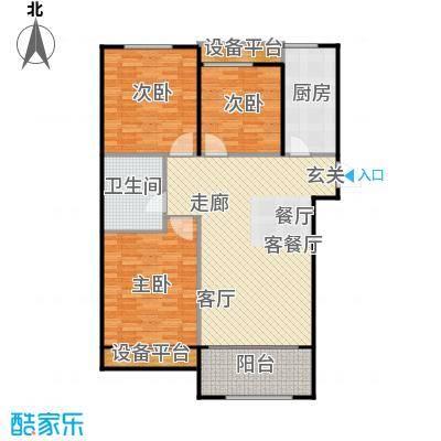 广厦财富中心118.00㎡C1户型 三室两厅一卫户型3室2厅1卫