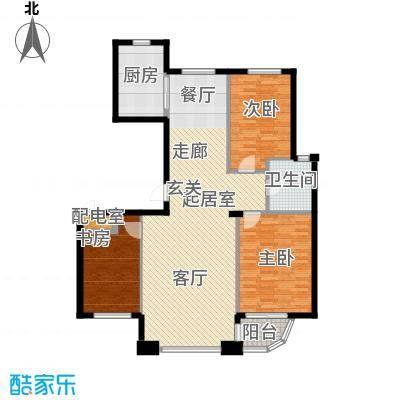 怡景湾壹号114.86㎡户型图户型3室2厅1卫