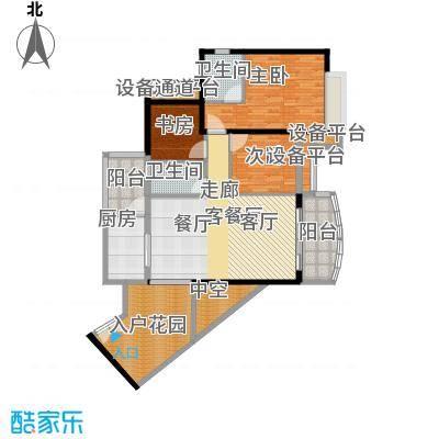 正和中州107.00㎡14栋04单元户型3室2厅2卫
