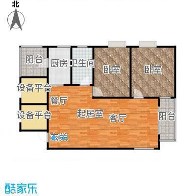 上城上林苑113.16㎡7号楼A2户型2室2厅1卫