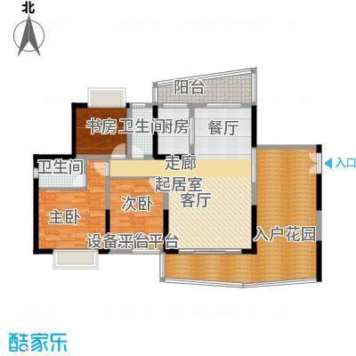 正和中州133.00㎡14栋01单元户型3室2厅2卫