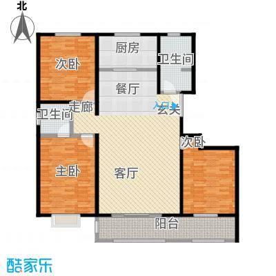 虞河小镇143.07㎡20#户型3室2厅2卫