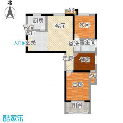 和谐家园二期G3户型 三室两厅两卫 建筑面积约102㎡户型3室2厅2卫