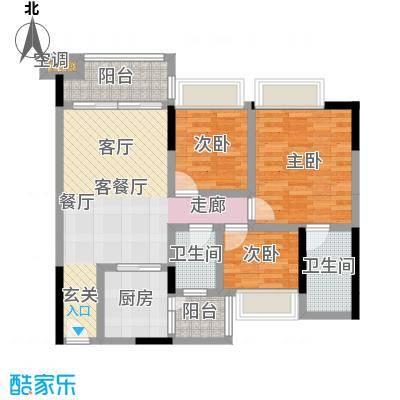 幸福湾95.00㎡5栋02单位95平三房户型图户型3室2厅2卫