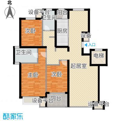 朗�骏景135.00㎡户型图户型3室2厅2卫