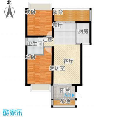 滨湖新天地93.00㎡A户型2室2厅1卫