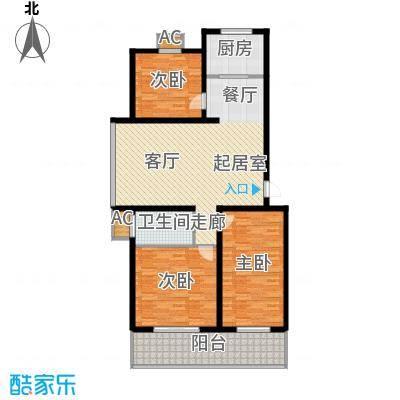 北小郭三期工程124.95㎡3室2厅1卫